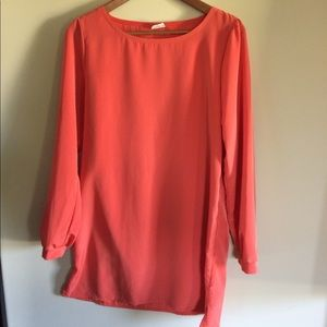 Tops - Orange Long Sleeve TUNIC or DRESS!
